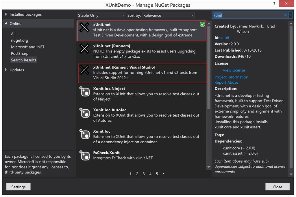 Running xUnit tests in TFS Build vNext – ALM Guide – Esteban Garcia