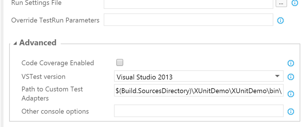 Running xUnit tests in TFS Build vNext – ALM Guide – Esteban